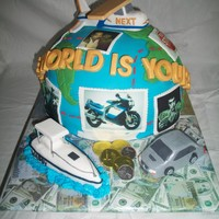 The World Is Yours Sculpted Cake The World is Yours Sculpted Cake