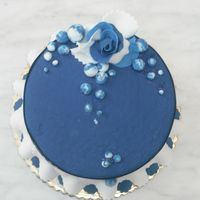Blue Frill Cake