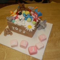 Toy Box Toy box cake to celebrate babies arrival.