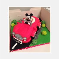 Mickey Mouse In His Car Cake Disney 1St Birthday Mickey Mouse in his Car cake Disney 1st Birthday