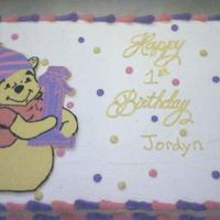 Winnie The Pooh First Birthday Full sheet with fbct of winnie the pooh. It matches the invitations.