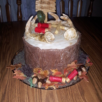 Tree Stump Hunting Cake tree stump hunting cake for my husband