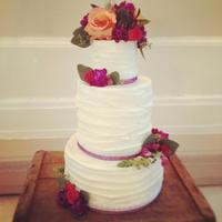 Rustic Wedding Cake *Pumpkin Cake with cream cheese icing
