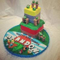 Angry Birds *Interactive angry birds cake with working slingshot