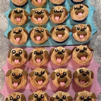 Pug Cupcakes Made these little cuties for my 4 year old who asked for some cupcakes to take to school.