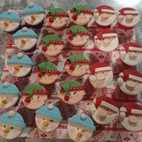Christmas Cupcakes Christmas cupcakes for my daughters kindy party.