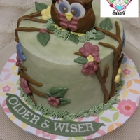 "The ""older And Wiser"" Cake   Experimenting with a buttercream base and soft colors!"