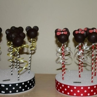Mickey / Mini Cake Pops Make these for a birthday party