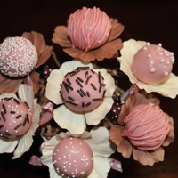Cake Pop Bouquet Pink Themed Cake Pops