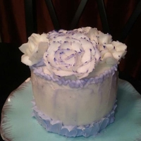 Mini Cake i was bord, and had left over chocolate mix and buttercream.....this was my little project for the nigt