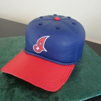 "Cleveland Indians Baseball Hat   3-layer 8"" cake...use edible transfer."