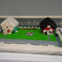 Cake For Pioneer School Class Cake depicting the good and bad experiences of preaching from house to house as one of Jehovah's Witnesses. The room was so hot from...