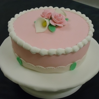 First Time Working With Fondant This is the cake I made after taking the Wilton Fondant class