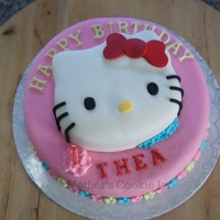 2 Layer Hks Head Is Actually The Top Layer Hello Kitty Cake 2 layer (HK's Head is actually the top layer) Hello Kitty Cake