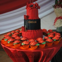 Black And Red Color Themed 18Th Birthday Cake Black and Red color themed 18th Birthday Cake
