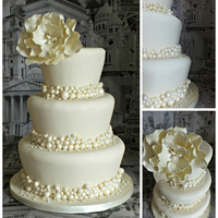Pearls & Peony this is my pearls ad peony cake - love it!