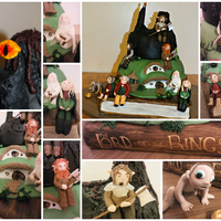 So This Was The 1St Cake This Year I Loved Making It And It Consists Of The Lord Of The Rings Book Handpainted The Shire And Mordor With So this was the 1st cake this year, I loved making it and it consists of the lord of the rings book (handpainted), the shire and Mordor...