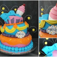 Wonky Clebration Cake this cake was made for my cousin and i loved every part of it!