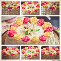 Basket Cake Basket butter cream cake with royal icing flowers. Cake by: Cakes by KamillePhoto by: FreshLove Fotografia