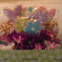 First Cookie Basket Cookie pops and caramel corn