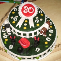 Alexandra 30 Jaar A Cake with Horses because she loves them