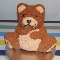 Teddy Bear Teddy Bear sponge with real chocolate butter icing!