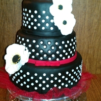 Polka Dot Sweet Sixteen This cake was made to match the birthday girl's dress