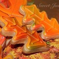 Sweet Justice Cookies   Fall leaf cookies