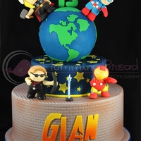 Avengers Cake   I love making character cakes! This is one of my favorites!