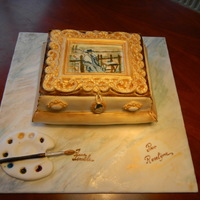 My Friend Roselyne Loves The Paintings Of Isaac Israels Dutch Painter Artist So Ive Made A Music Box Cake Painting The Image Of Israel My friend Roselyne loves the paintings of Isaac Israels (dutch painter artist) so i've made a music box cake, painting the image of &...