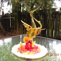 Isomalt Herons Hi everyone,I could's place my foto to isomalt foto's therefore is hier placed to other cakes. I have made these isomalt herons a...