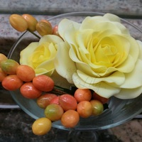 Yellow Roses And Berries