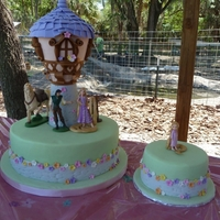 Tangled Cake W/smasher Cake The inspiration for this cake was from an image I found off of Google images. My daughter got so excited when seeing this cake that I just...