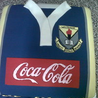 School Rugby Uniform Inspired Cake