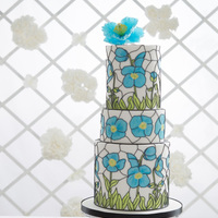 Wedding Day Blues-Stained Glass Effect Wedding Cake Here is one of the professional shots of my cake featured on the front cover of this month's Cake Craft and Decoration Magazine (...
