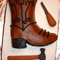 Shoe Cobbler Cake This was a celebration cake for a gentleman that is a shoe cobbler.