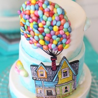 Up Themed Cake A Billion Tiny Hand Made Fondant Balloons Hand Painted House On Modeling Chocolate Small 3 Tier Cake UP themed cake. A billion tiny hand made fondant balloons. Hand painted house on modeling chocolate. Small 3 tier cake