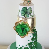 4 Leaf Clover 30Th Birthday Cake Modeling Chocolate Topper Made To Look Like Jewelry Fantasy Wafer Paper Clover On Side Fondant Details O 4 leaf clover 30th birthday cake. Modeling chocolate topper made to look like jewelry, fantasy wafer paper clover on side. Fondant details...