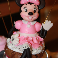 Minnie Cupcakes Minnie (look-a-like) cupcake!!! Peanut butter swirl in chocolate brownie cupcake. Grab a glass of milk!