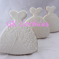 Wedding Gown Cookies wedding gown cookies