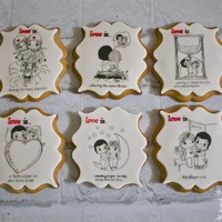 Love Is... Love is... cartoon hand painted cookies!