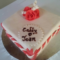 White And Red Caddy Cake Birthday cake