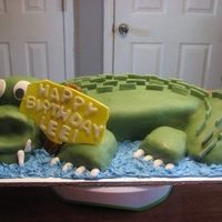 """gator"" This was my first attempt at one of these. Not the easiest thing to tackle as a beginner! But, I had some suggestions from CAKELADY64 that..."