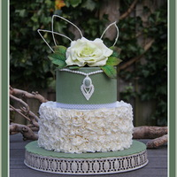 Ruffle With Rose... Ruffle with rose…Just a cake to practice my own skills. -- Diane, Netherlands, Alkmaar,