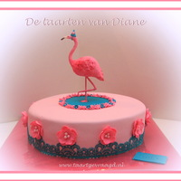 Flamingo A happy birthday flamingocake
