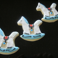 Rocking Horse Cookies Shortbread cookie, with royal flood icing and royal icing...