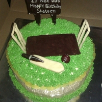Cricket Theme Cake Cricket Theme Cake