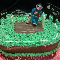 Cricket Theme Birthday Cake A Cricket theme birthday cake