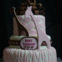 Safari Theme Girl Baby Shower Cake safari theme girl baby shower cake