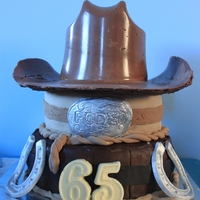 Western Cake I made this for my Father In Law's 65th Birthday. He decided he wanted a Western themed party as he does Rodeos in NZ. So I surprised...